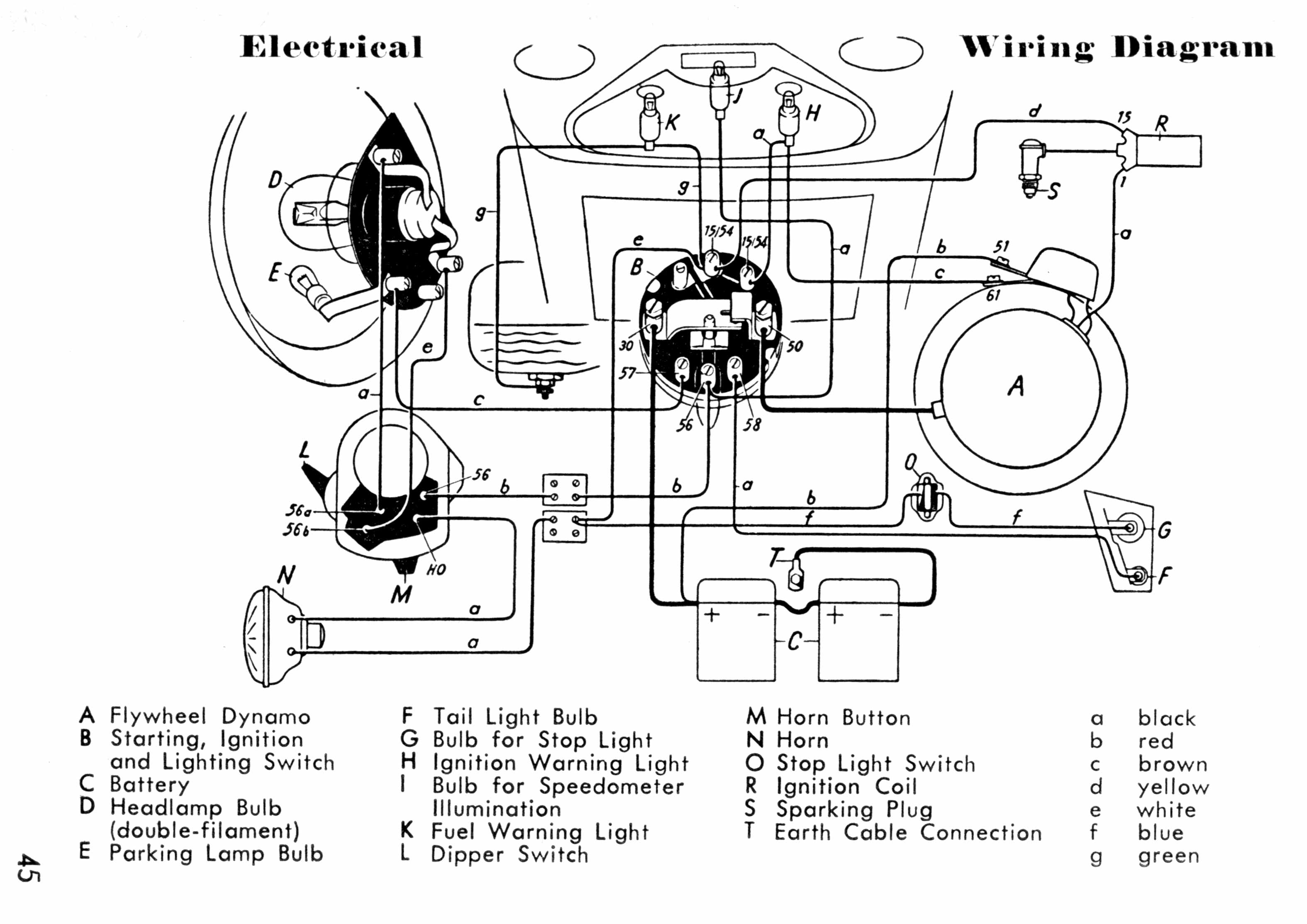 WRG-8370] 45 Harley Wiring Diagram on
