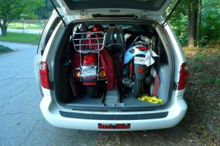 How 'bout TWO scooters in a minivan?